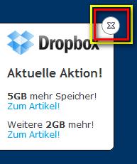 Dropbox schließen